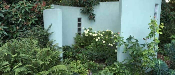 Garden Feature with Plants