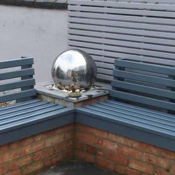 Spherical Silver Water feature