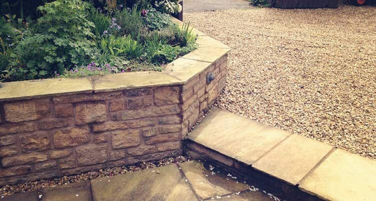 Front Yard Stone and block paving