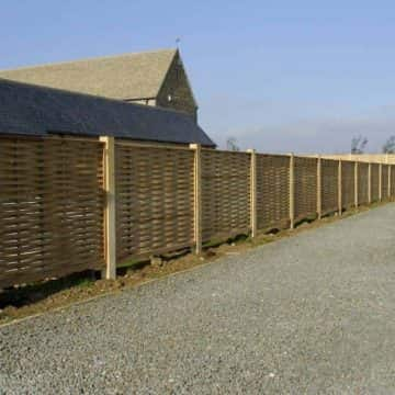 Weave Style Fence & Gravel Area