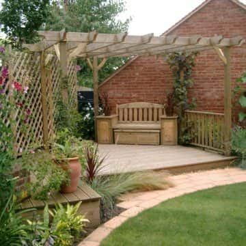 Landscaping With Timber Decking, Pergola & Trellis