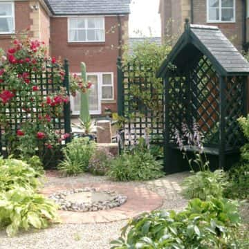 New Build Garden Design With Pergola And Trellis